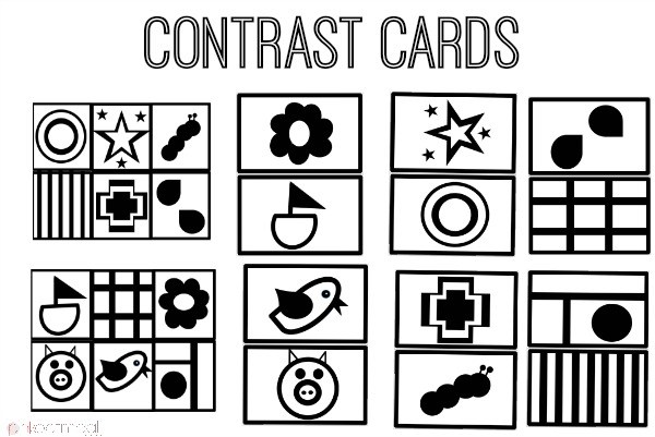 Contrast Cards - Pink Oatmeal