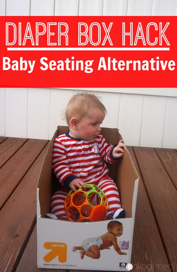 Diaper Box Hack - A better seating alternative for your baby than the traditional baby equipment!