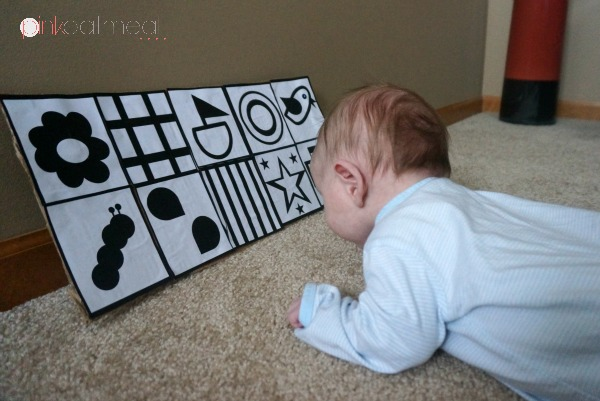 Tummy Time With Contrast Cards