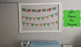 DIY Frame for Nursery