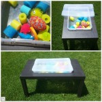 DIY Sensory/Water Table - Pink Oatmeal