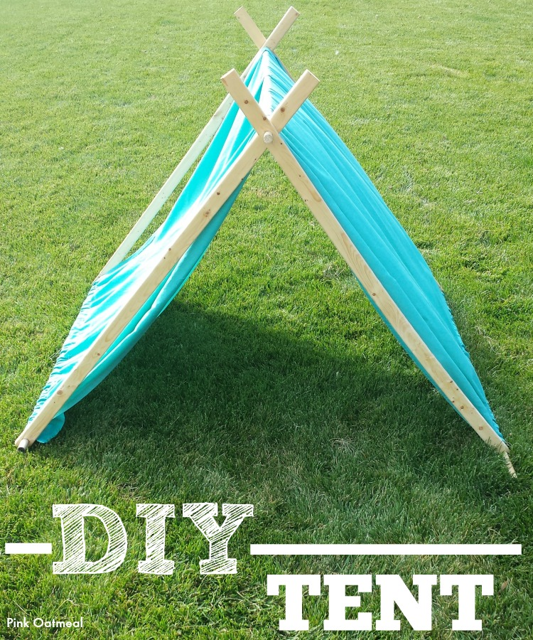 DIY Kids Tent - Pink Oatmeal