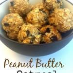 Peanut Butter Oatmeal Balls - Pink Oatmeal