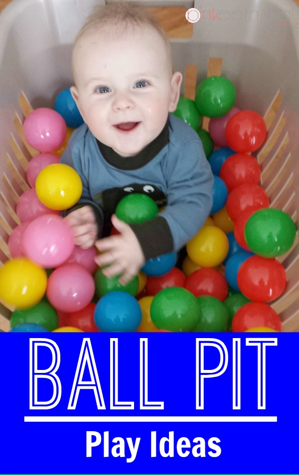 Does your baby boy love to play with balls? Does your baby girl enjoy a sensory experience? Check out these ball pit play ideas for your little one! Ball pits are awesome from baby on up!