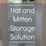 Hat and Mitten Storage Solution - Pink Oatmeal