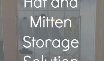 Hat and Mitten Storage Solution