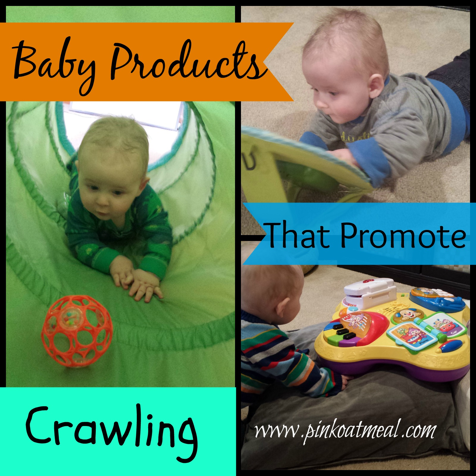 baby products that promote crawling | pink oatmeal