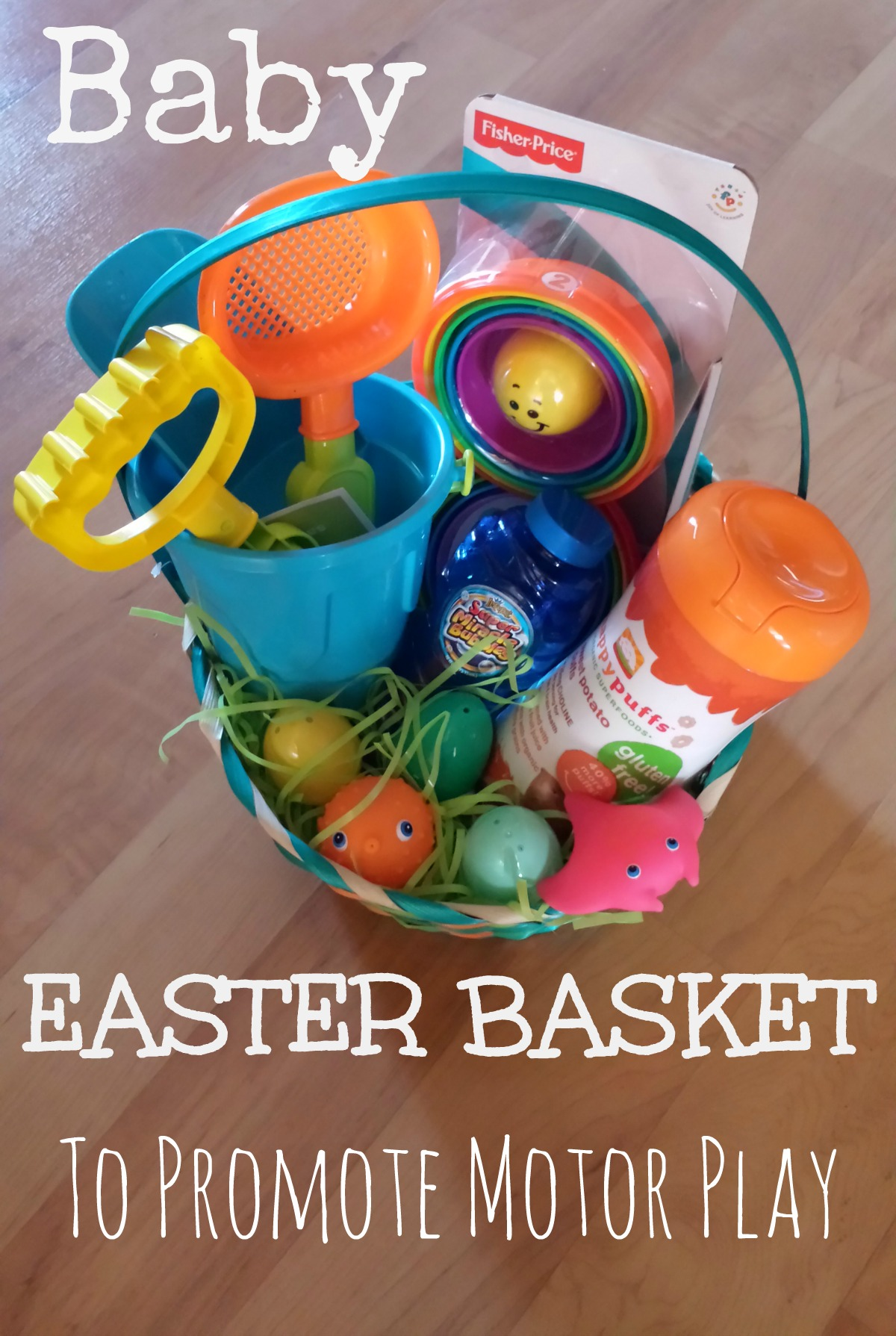 Easter basket for baby to promote motor development pink oatmeal easter basket to promote motor play negle Choice Image
