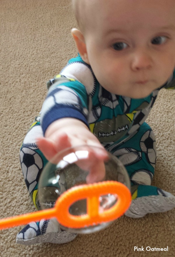 bubble play for baby