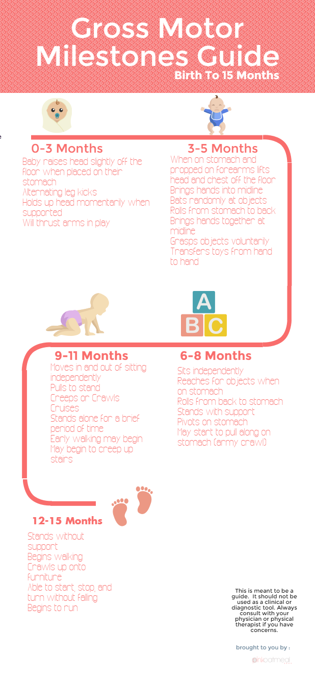 Gross Motor Milestones For The First Year {Free Printable