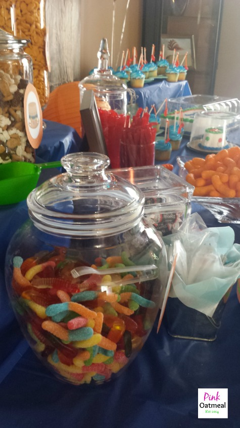 Fishing Theme Party - Pink Oatmeal Candy Table