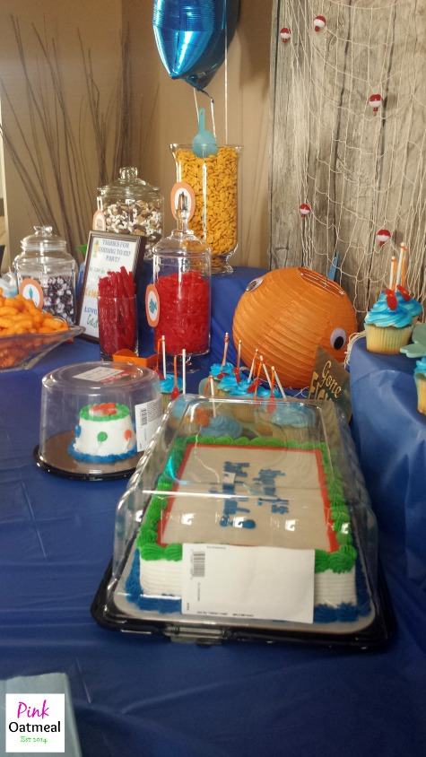 Fishing Themed Birthday Party - Pink Oatmeal