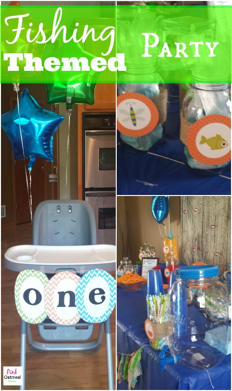 Fishing Themed Party - Pink Oatmeal
