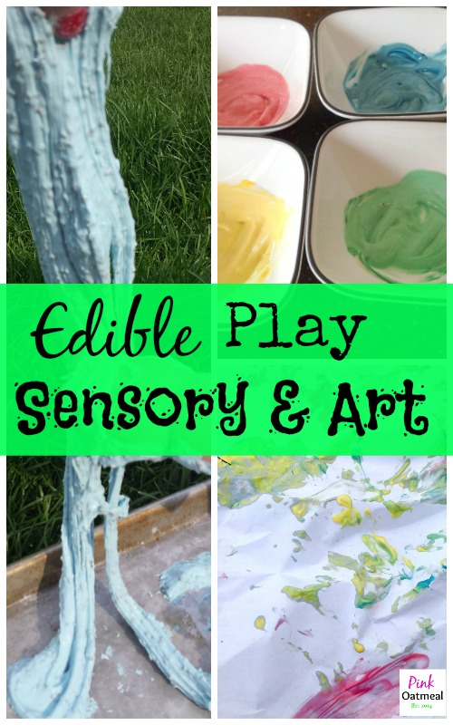 Edible Sensory and Art Play - Pink Oatmeal