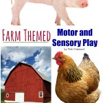 Farm Themed Motor and Sensory Play - Pink Oatmeal