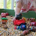 Farm Themed Sensory and Motor Play - Pink Oatmeal