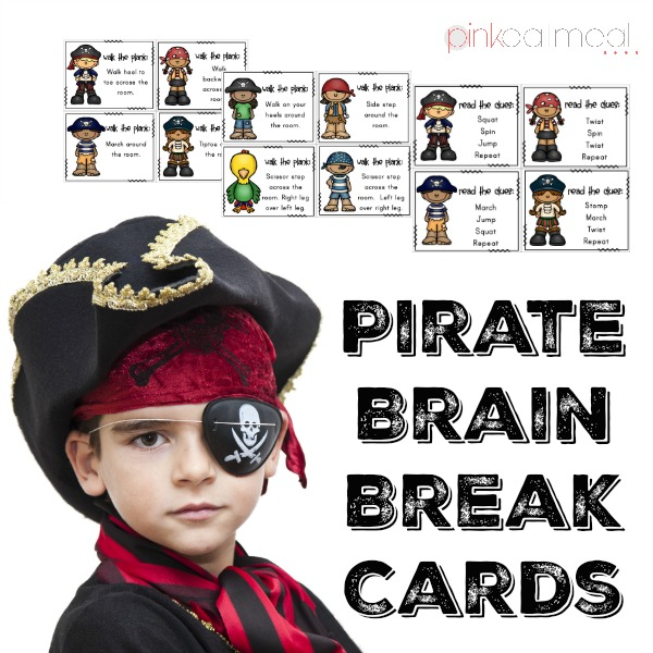 Pirate Brain Break Cards Cover