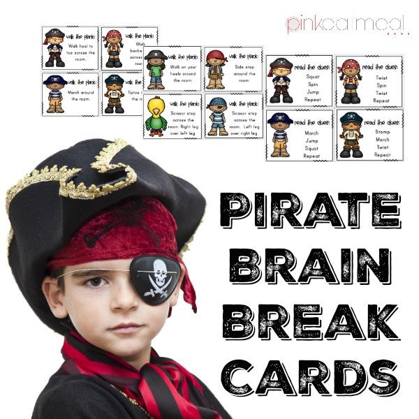 Pirate Brain Break Cards Cover