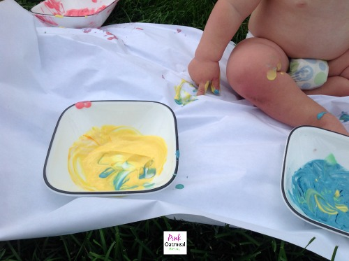 Edible Art and Sensory Play - Pink Oatmeal