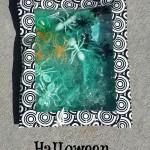 Halloween Sensory Bags - Pink Oatmeal