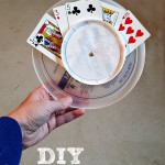 DIY Playing Card Holder - Pink Oatmeal