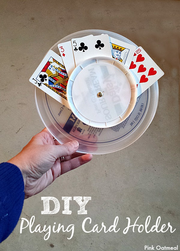 DIY Playing Card Holder - Pink Oatmeal