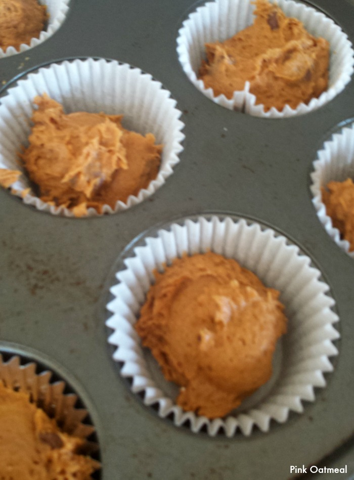 Pumpkin Chocolate Chip Muffins - 3 Ingredients