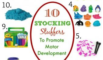 Stocking Stuffers To Promote Motor Development