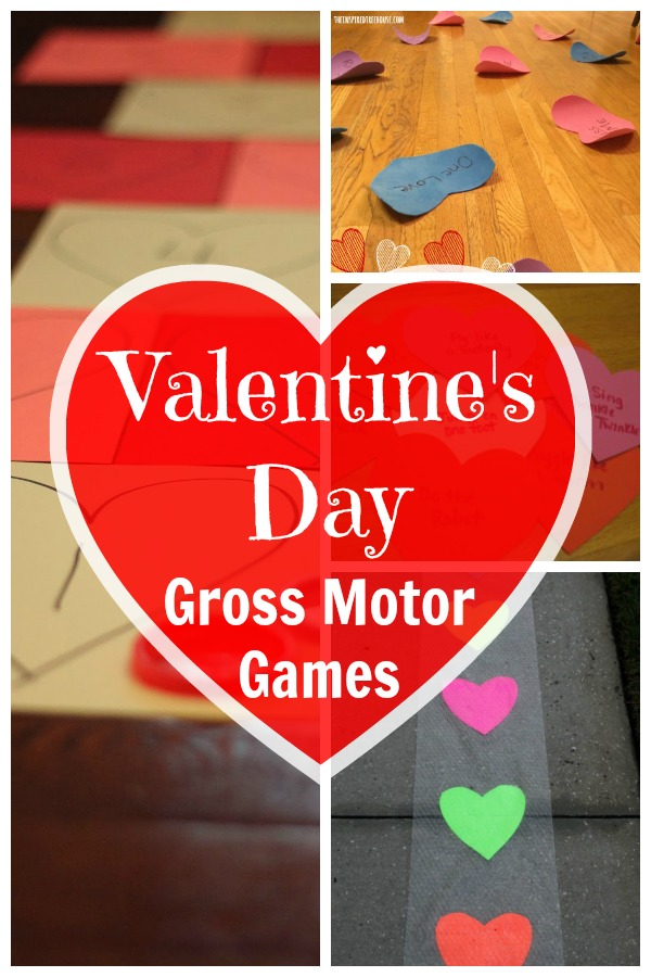 Valentine's Day Gross Motor Games, Great Valentine's Day Ideas for getting the kids moving. Gross motor ideas for preschoolers on up. - Pink Oatmeal