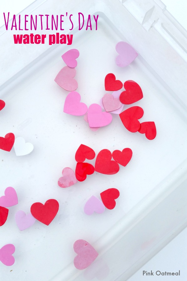 valentine's day water play | pink oatmeal, Ideas