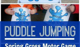Spring Gross Motor Game – Puddle Jumping