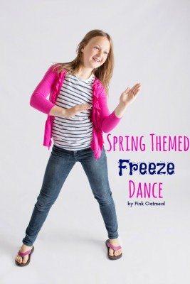 Spring Themed Freeze Dance - Pink Oatmeal