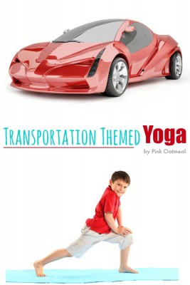 Transportation Themed Yoga - Pink Oatmeal