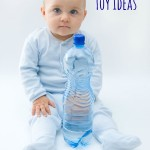 Water Bottle Toy Ideas For Baby and Toddler Play - Pink Oatmeal