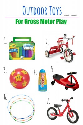 Outdoor Toys For Gross Motor Play - Pink Oatmeal
