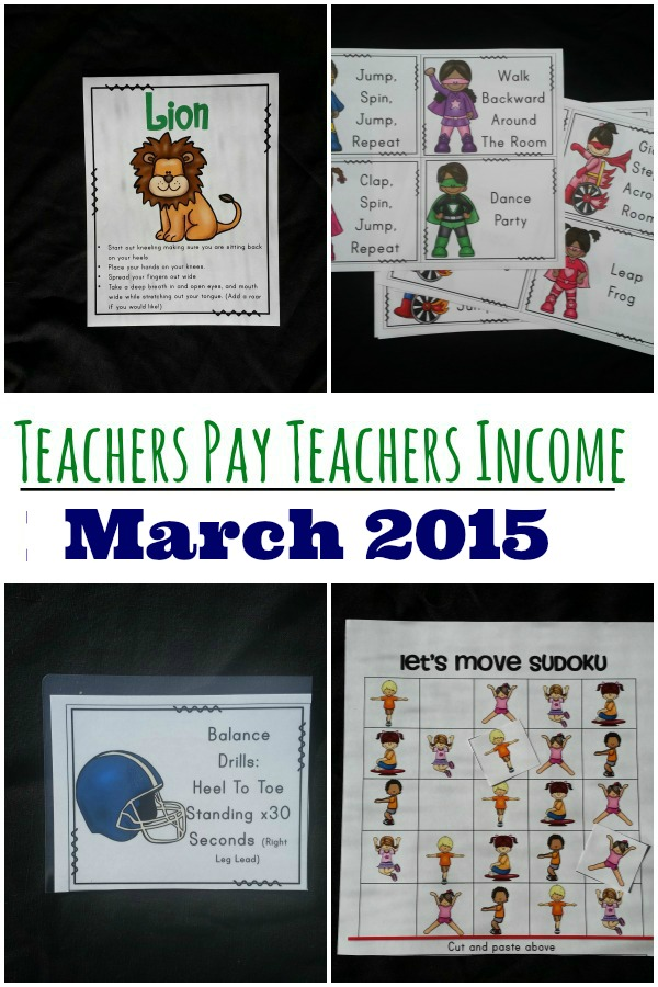 Teachers Pay Teachers -March 2015