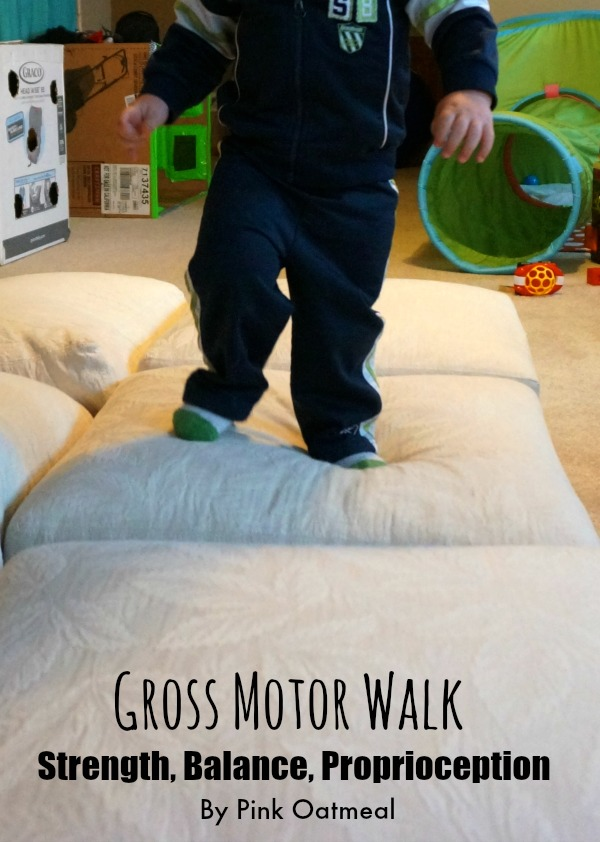 Gross Motor  Walk - Pink Oatmeal