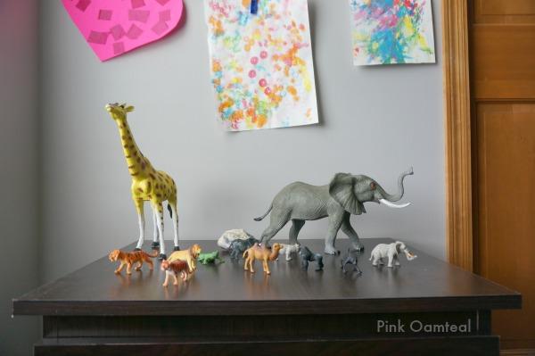 Art Wall Animals - Pink Oatmeal
