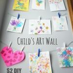 Child's Art Wall - Pink Oatmeal