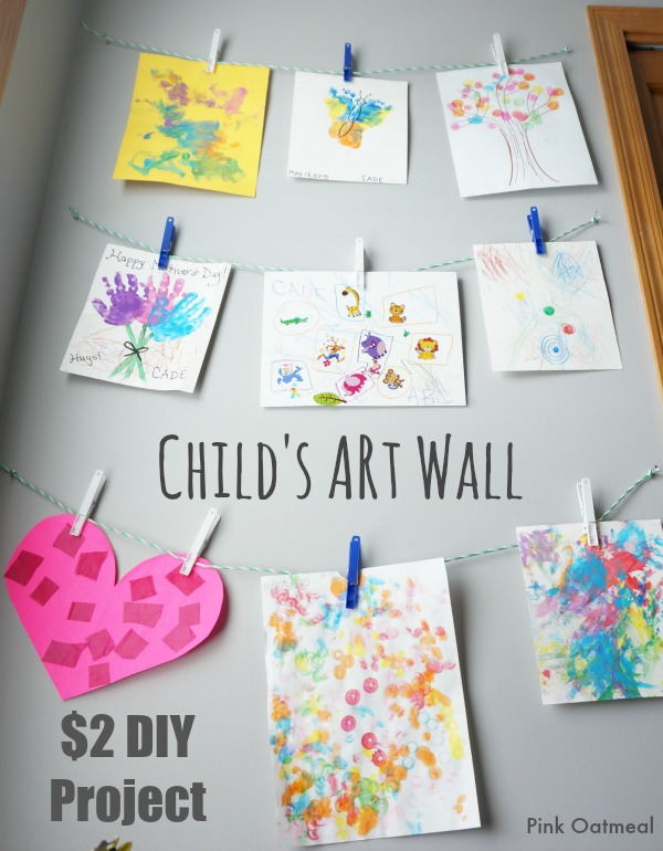 Child's Art Wall - Pink Oatmeal