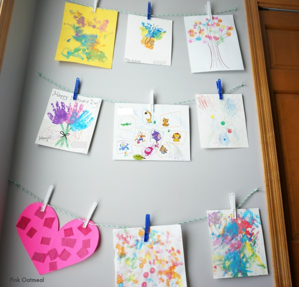 Childs Wall Art Close Up- Pink Oatmeal