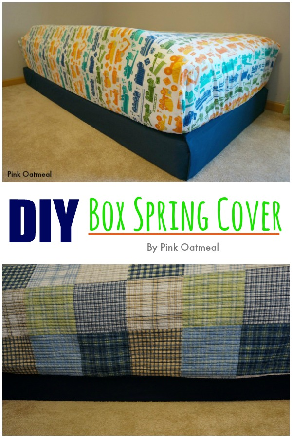 DIY Box Spring Cover - Pink Oatmeal