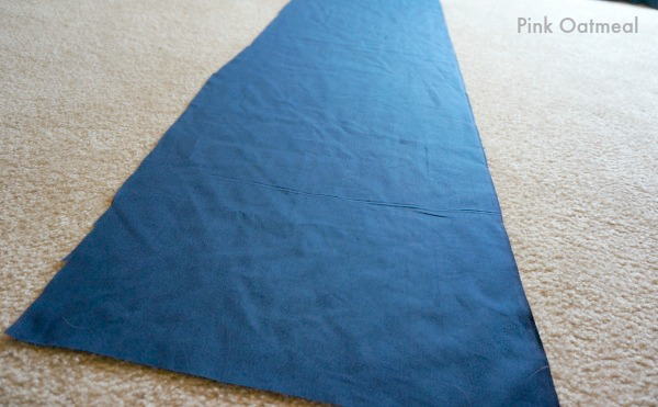 how to cut fabric to cover a box