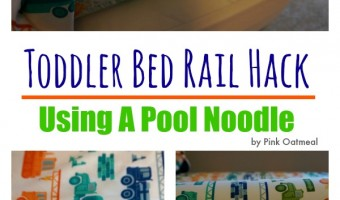 Toddler Bed Rail Hack