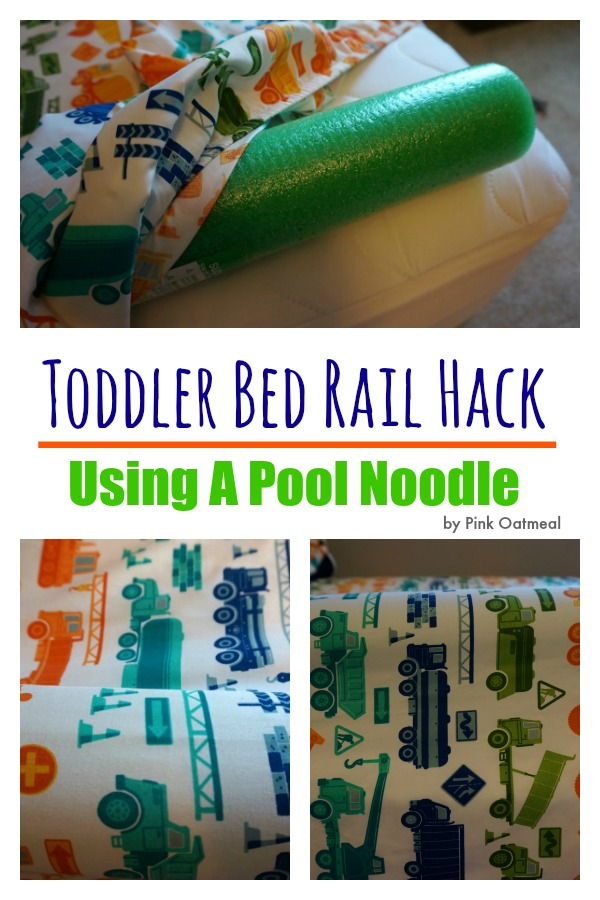 Toddler Bed Rail Hack - Pink Oatmeal