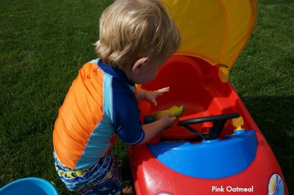 Toddler Car Wash - Pink Oatmeal