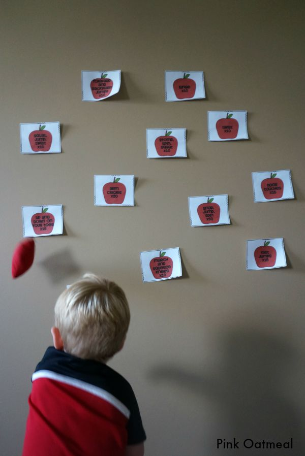 Apple Toss Game - Pink Oatmeal
