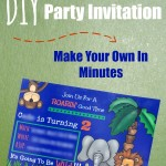 DIY Birthday Invite - Pink Oatmeal