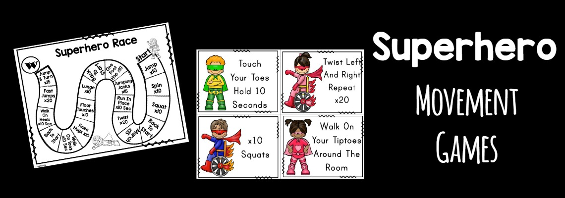 Superhero Gross Motor Game – Superhero Hop