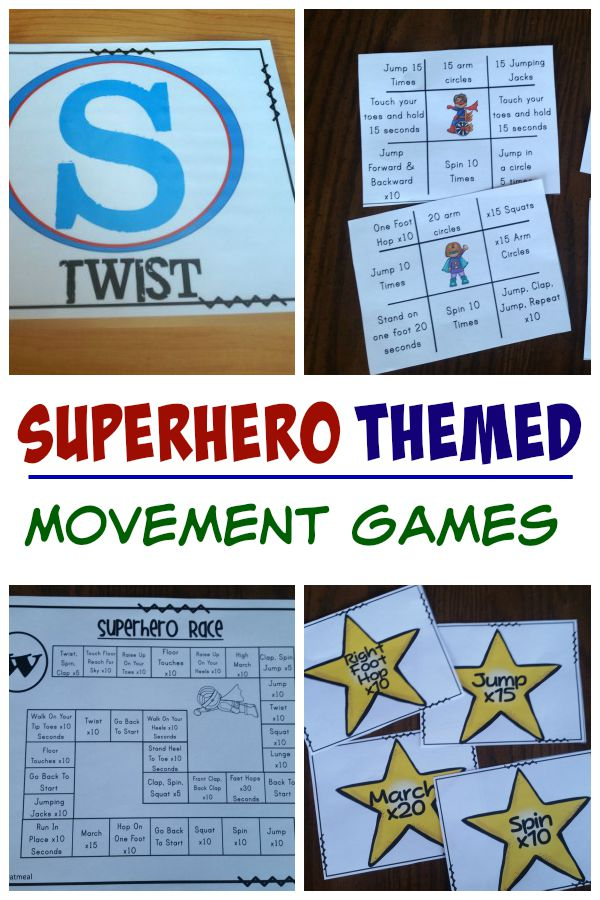 Superhero Themed Movement Games - Pink Oatmeal
